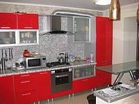 Кухня на заказ  с крашенным МДФ, фото 1