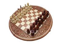 Шахматы круглые. Ручная работа