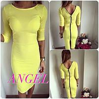 Платье модное яркое миди на молнии по всей длине разные цвета SMANG200