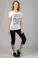 """Женская  футболка """"Реглан"""" (белый) John Baner"""