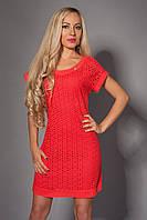 Красивое летнее женское коралловое платье.