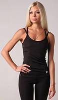 Женская майка для спорта черная Blu Active