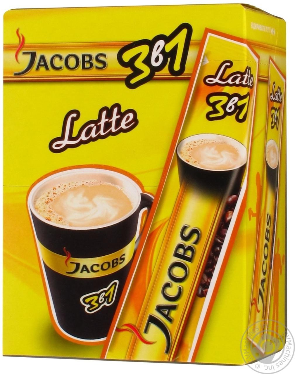 """Кофейный напиток Jacobs 3в1 """"Latte"""" 24 шт."""