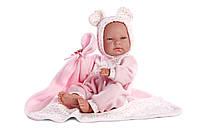 Llorens - Кукла Nica Mantita новорожденная девочка, 38 см (Испания)