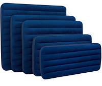 Кровать велюровая 68950 синяя, (без насоса) в коробке 76*193*22см
