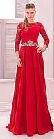 Вечернее платье (73) для выпускного вечера, свидетельницы на свадьбе (цвета - КРАСНОЕ)