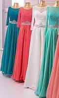 Вечернее платье (73) для выпускных вечеров и свидетельниц (цвета - МЯТНОЕ)