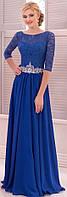 Вечернее платье (73) для выпускных вечеров и свидетельниц (цвета - СИНЕЕ)