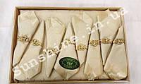 Скатерть Ayisigi Турция 160х220 + 8 салфеток с держателями сердца, фото 1