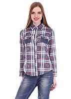 Молодежная модная рубашка 017 клетка