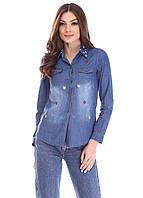 Джинсовая женская рубашка 1045