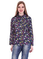 Джинсовая женская рубашка 1063