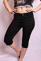 Женские черные летние капри больших размеров (с 30 по 38 размеры)
