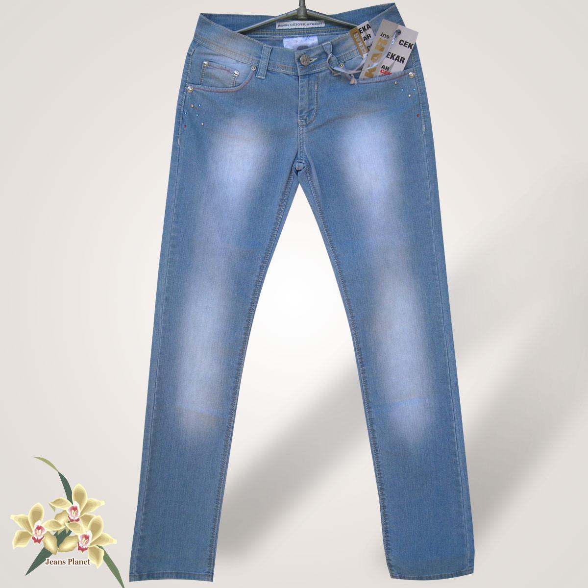 Джинси жіночі блакитні класичні Секаг