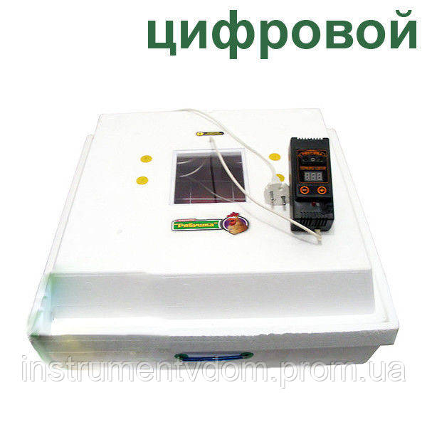 """Инкубатор бытовой """"Рябушка-2"""" с ручным переворотом и цифровым терморегулятором (на 70 яиц)"""