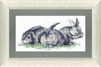 Набор для вышивки крестиком Кролики