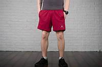 Шорты мужские тренировочные хлопок Jordan  (красные)