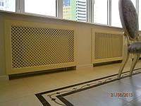 Экран декоративный на батарею отопления Решетка на нишу радиатора Дерево РР1-F60  с монтажным креплением, фото 1