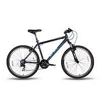 "Велосипед 26'' PRIDE XC-2.0 рама - 21"" черно-синий матовый 2016"