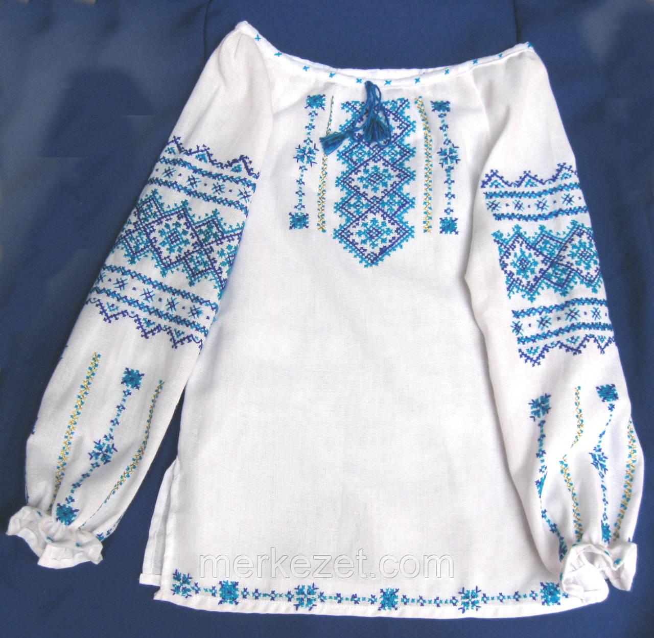 Вышиванка ручная. Детская вышитая блузочка для девочек