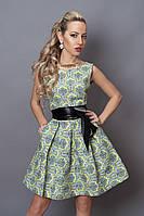 Платье  мод 248 -1 размер 44,46,48 желтый орнамент