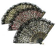 Веер кружевной леопардовый
