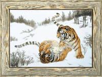 Набор для вышивки крестиком  Игривые тигры