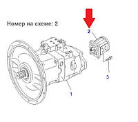 Шестеренчатый насос 21P-60-K3020 для Komatsu PC160