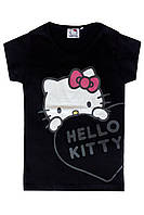 Футболка для девочки Hello Kitty; 128 размер