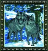 Набор для вышивки крестиком Волки