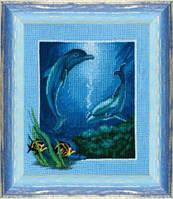Набор для вышивки крестиком Дельфины