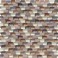 Мозаика для стен из натурального камня и стекла Vivacer DAF15