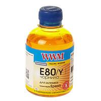 Чернила WWM E80 для Epson L800, 200г Yellow, с повышенной светостойкостью