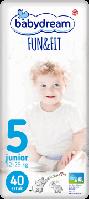 Подгузники Babydream Fun&Fit да, 5 (junior) 40шт., Одноразовые, Липучки