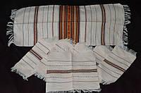 Тканые рушник с салфетками ручная работа