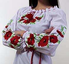 Сорочка вышиванка  с маками есть большие размеры