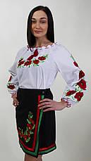 Сорочка вышиванка  с маками есть большие размеры, фото 2