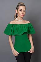 Блуза мод №494-1, размеры 40,42,44  зеленая, фото 1