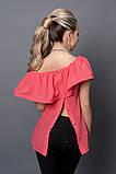 Блуза мод №494-1, размеры 40,42,44  зеленая, фото 2