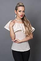 Блуза мод №494-7, размеры 40,42,44,46 молочная, фото 1