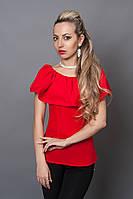 Блуза мод №494-8, размеры 40,42,44,46 красная, фото 1