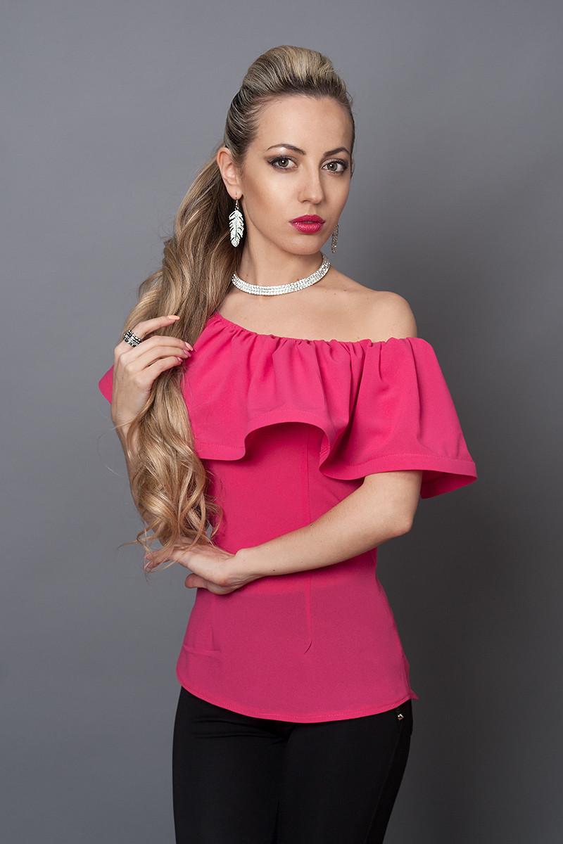 Блуза мод №494-11, размеры 40,42,44,46 малиновая