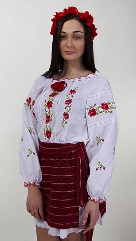 Сорочка вышиванка с розами есть большой размер, фото 2