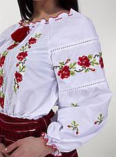 Сорочка вышиванка с розами есть большой размер, фото 3