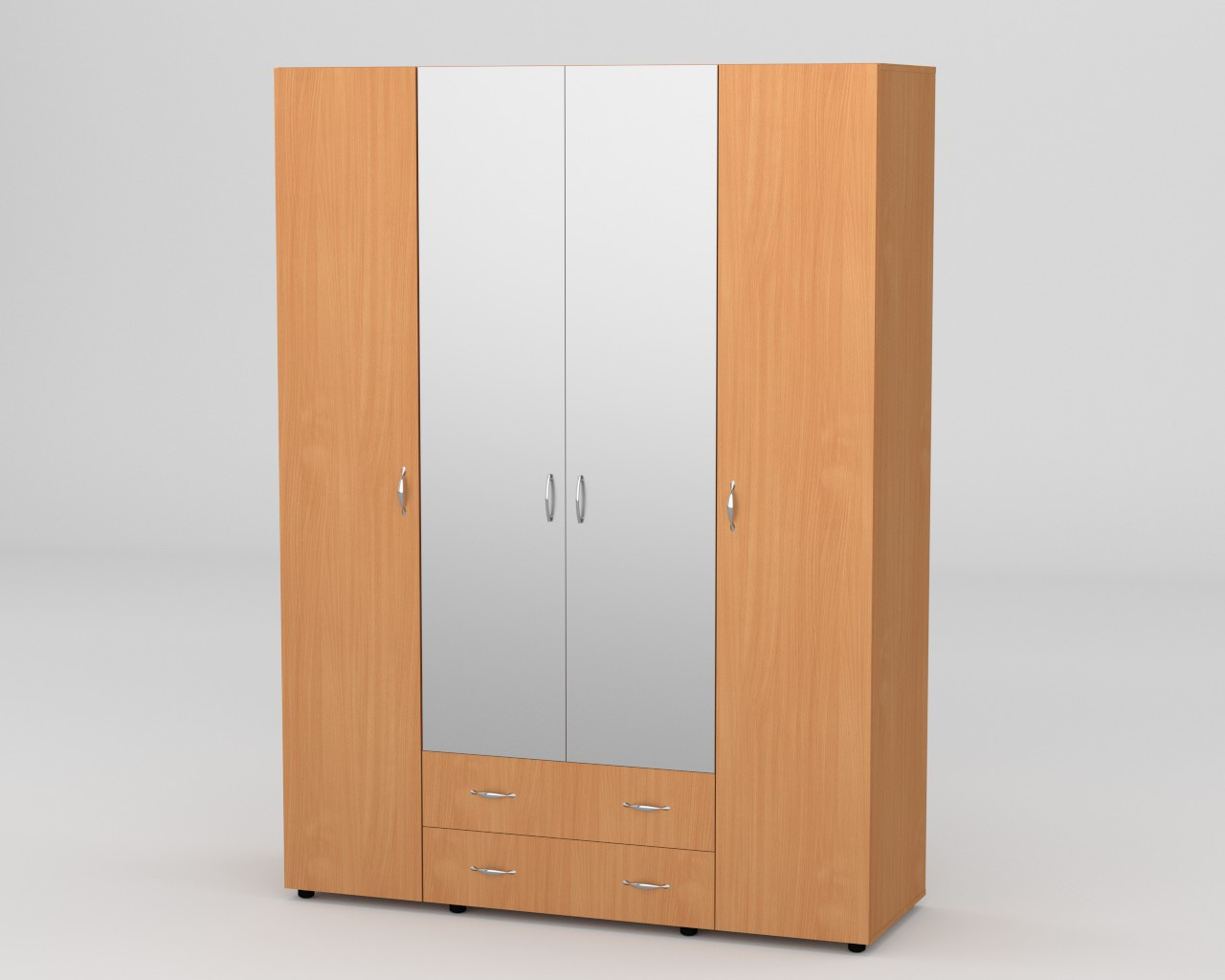 Шкаф распашной с зеркалом - 7