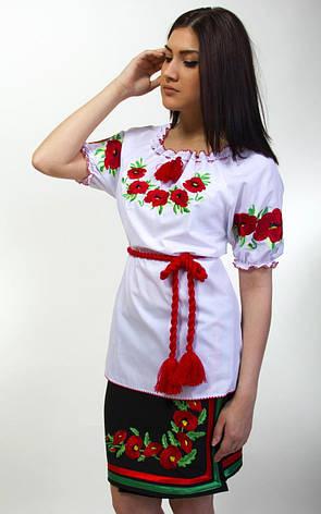 Вышиванка с маками короткий рукав есть большой размер, фото 2