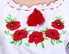 Вышиванка с маками короткий рукав есть большой размер, фото 3