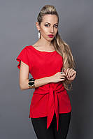 Блуза мод №496-3, размеры 44,50  красная