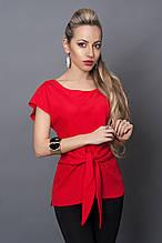 Блуза мод №496-3, размеры 44  красная