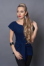Блуза мод №496-4, размеры 42-44 темно-синяя